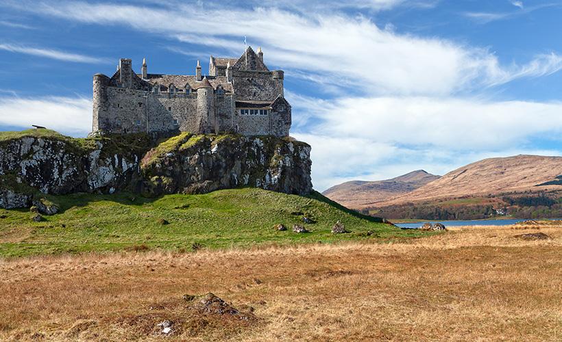 Duart Castle on a sunny day