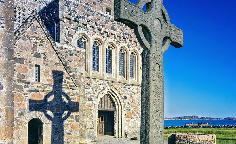 Iona Abbey on a sunny day