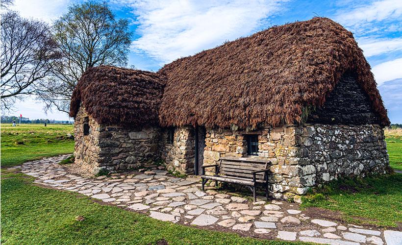 Leanach Cottage at Culloden Battlefield